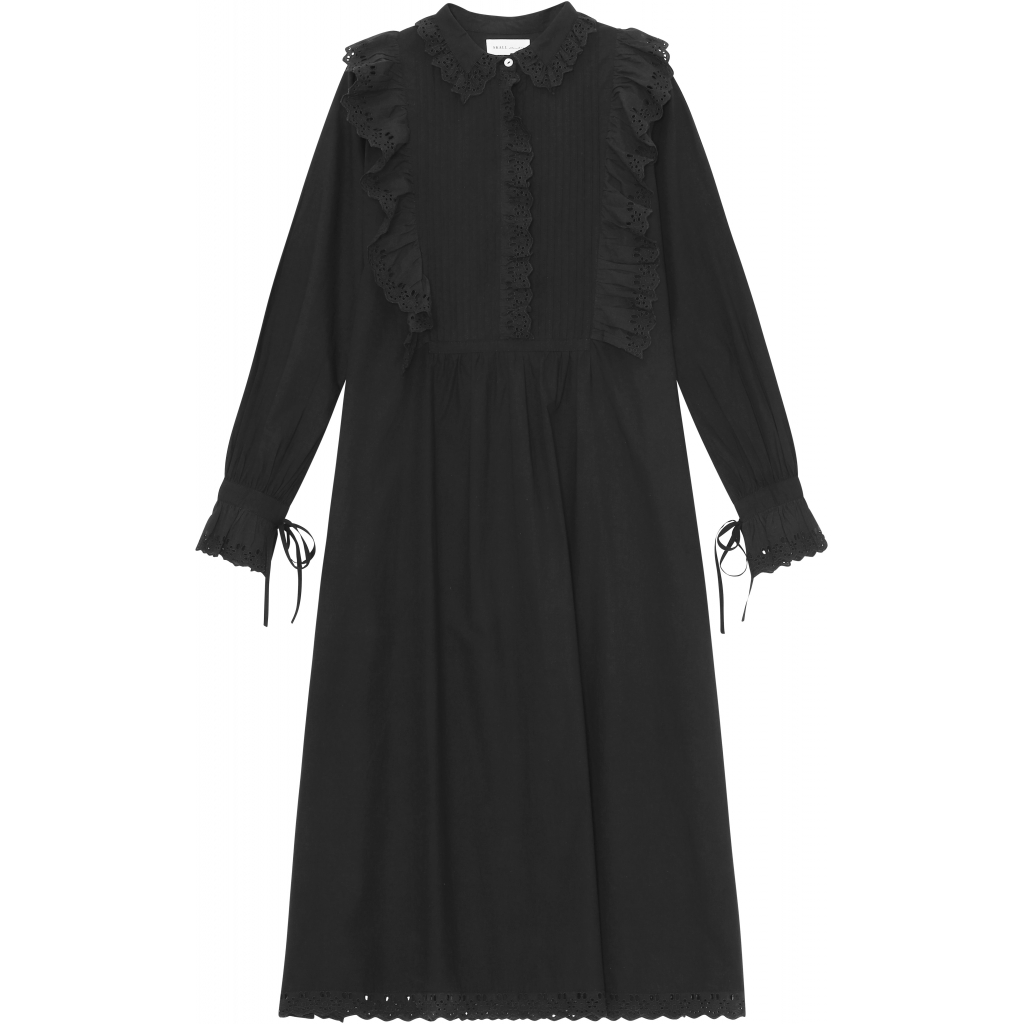 DAISY SHIRT DRESS BLACK