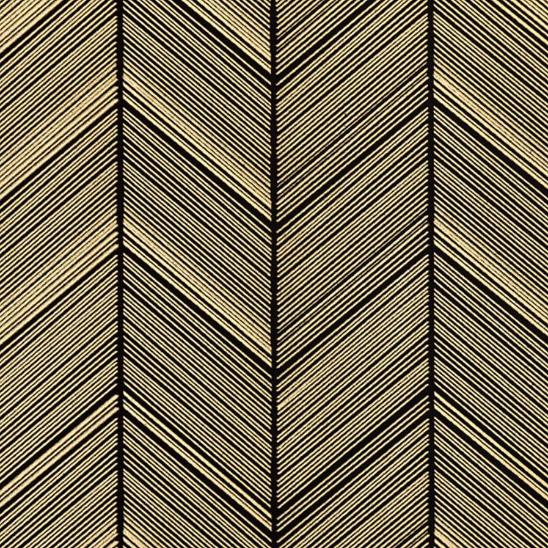 WRAPPING PAPER HERRINGBONE BLACK/GOLD