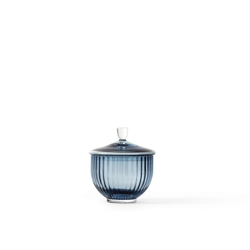 LYNGBY BONBONNIÈRE BLUE 10 CM