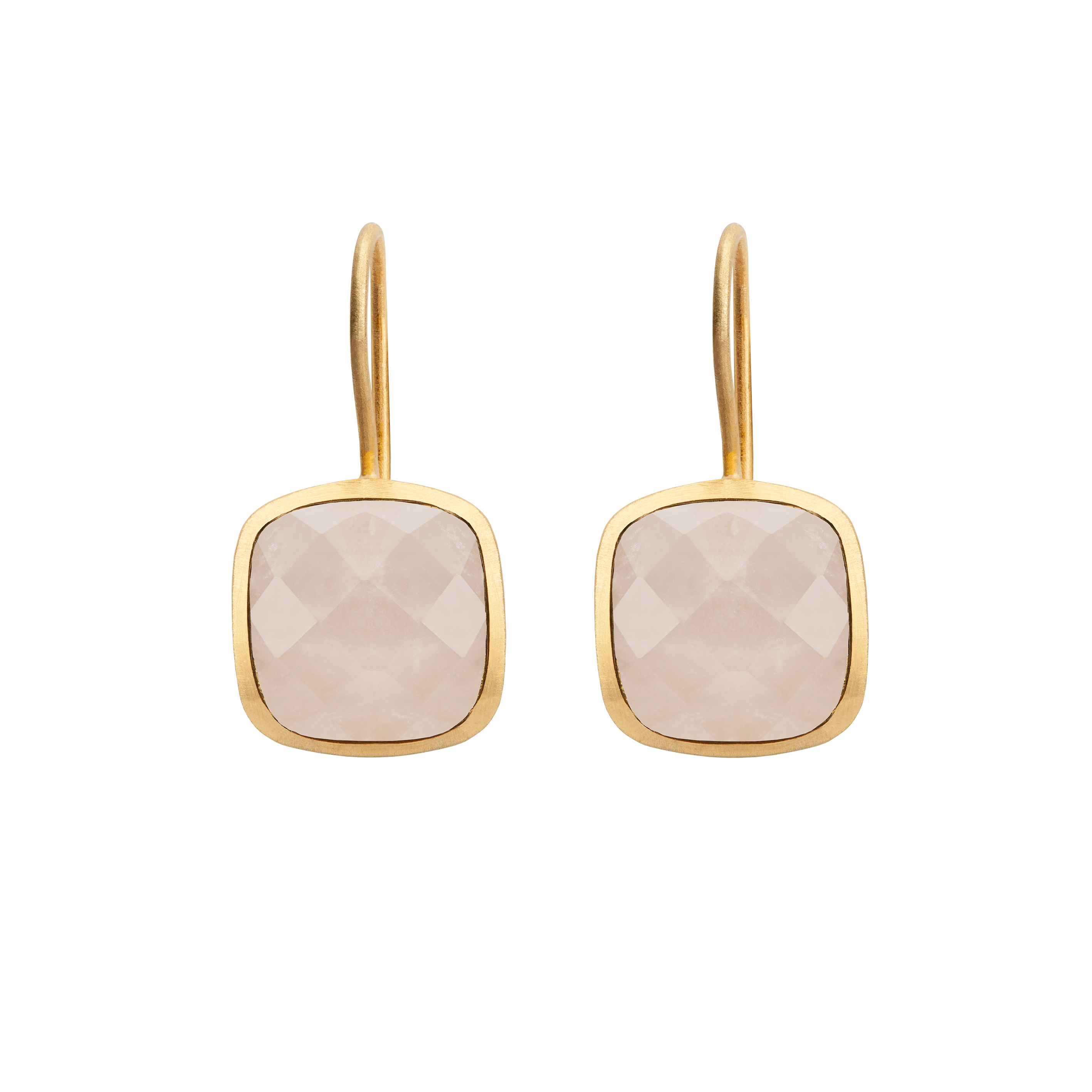 PALETTE EARRINGS ROSE QUARTZ