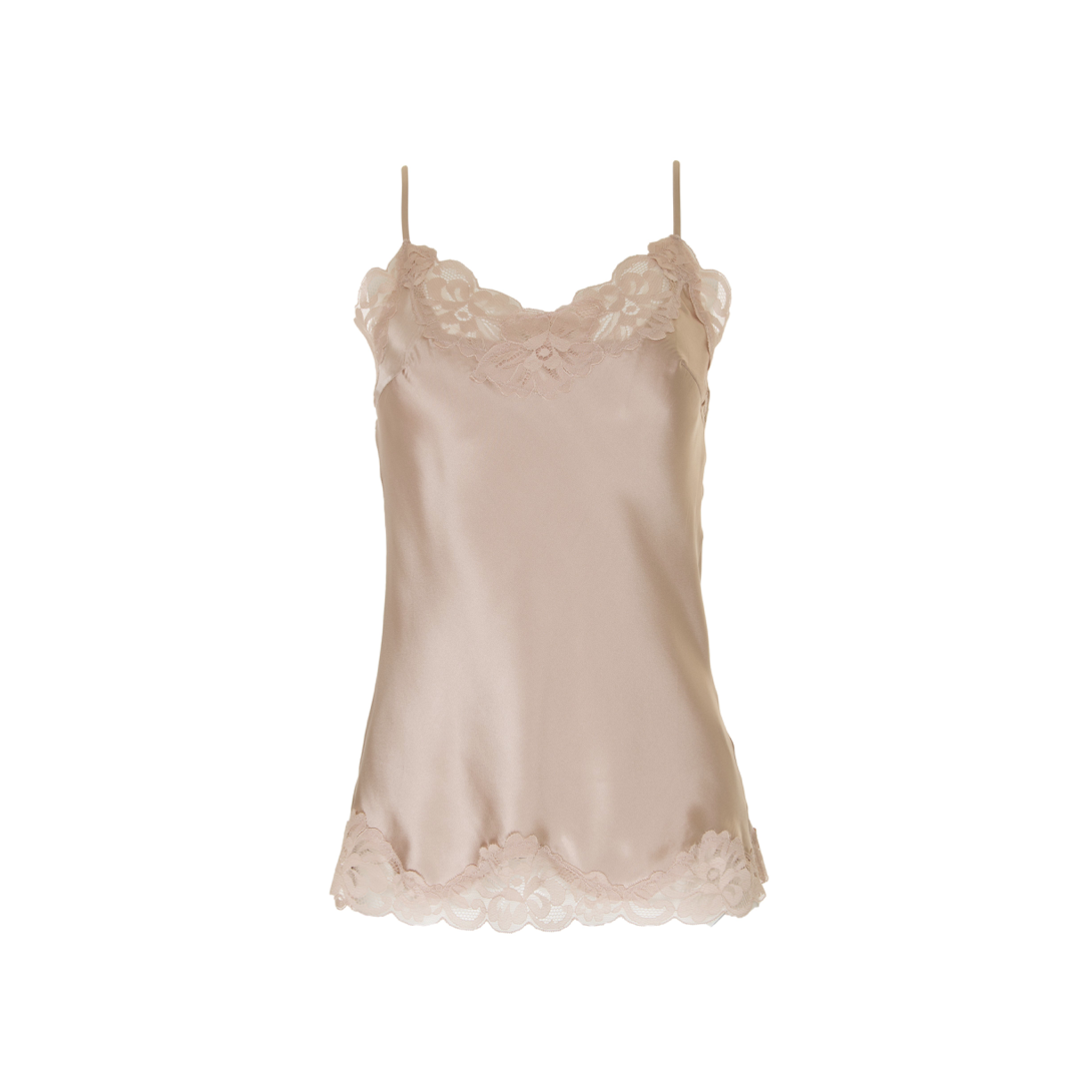 FLORAL LACE CAMI NUDE CRYSTAL
