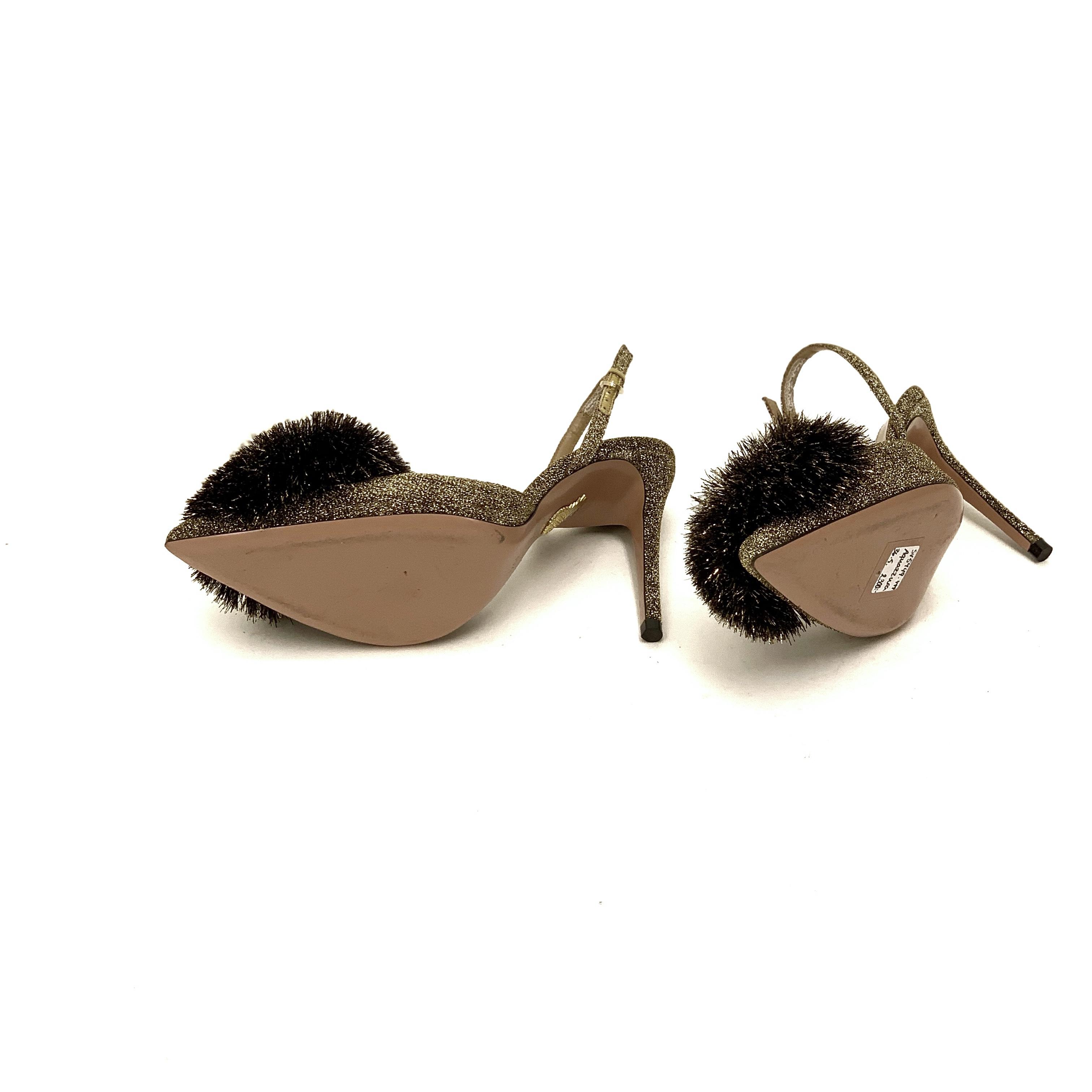 Aquazurra slingback heels 36,5 SV5449