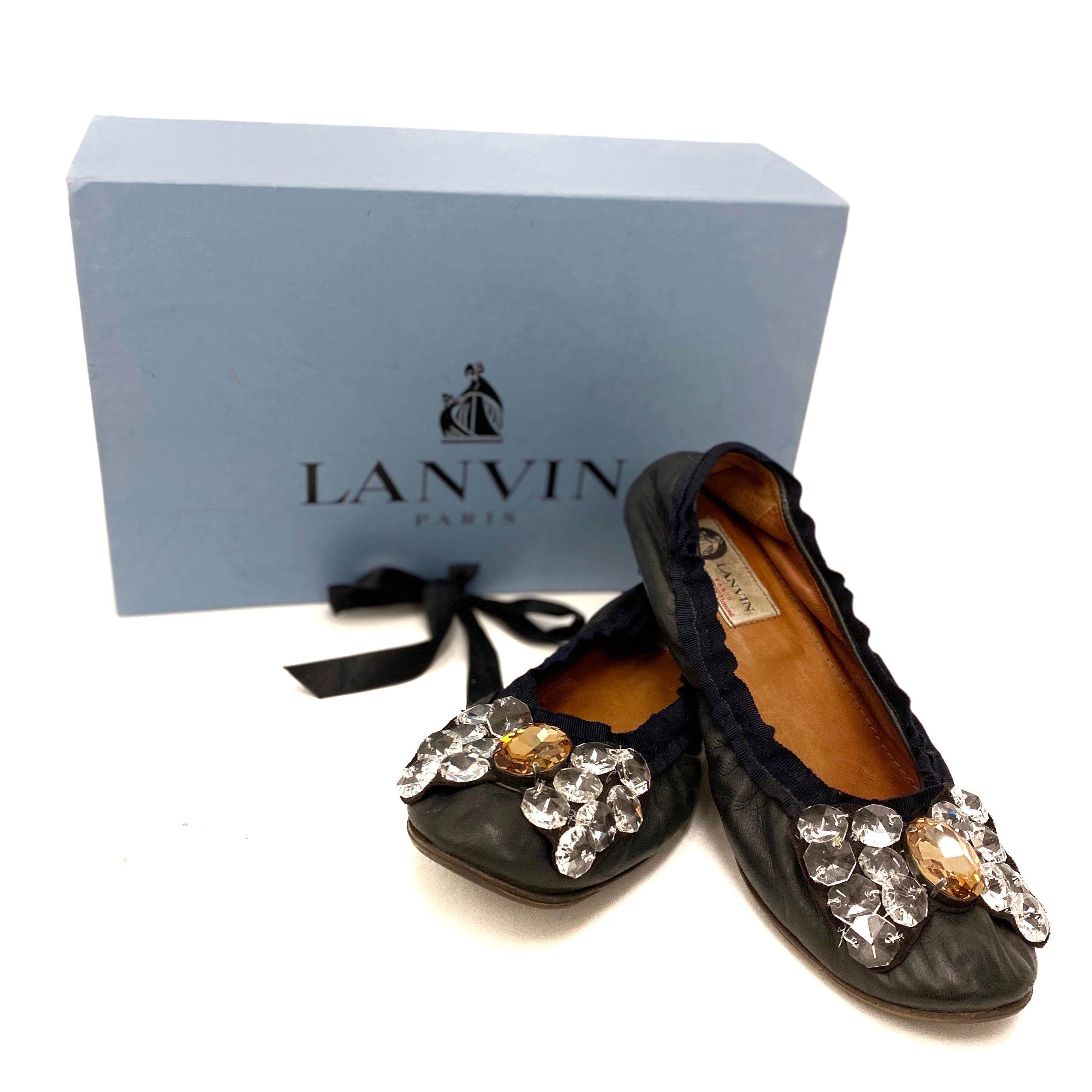Lanvin ballerina skor 39 SV5190