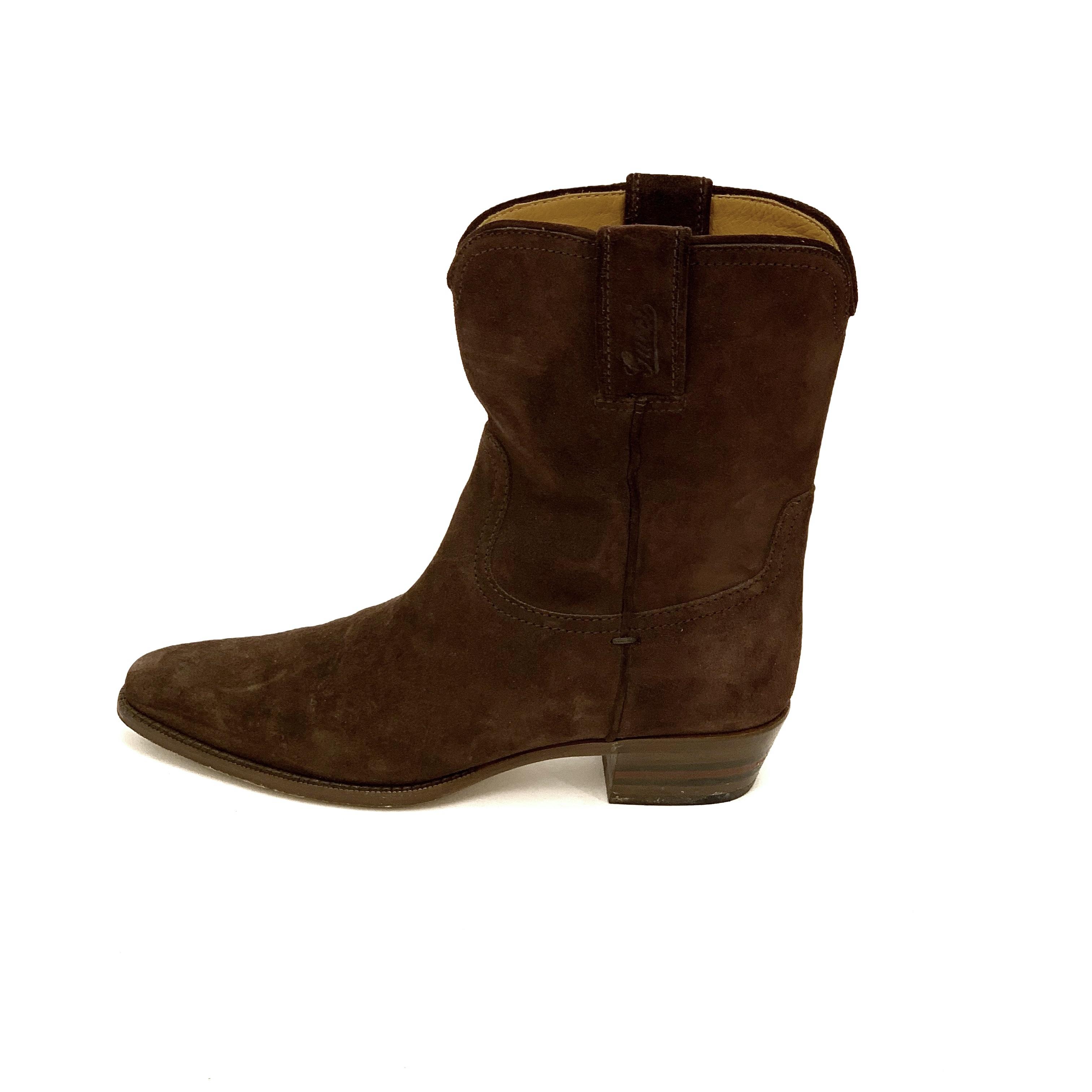 Gucci boots brun mocka 38 SV5555