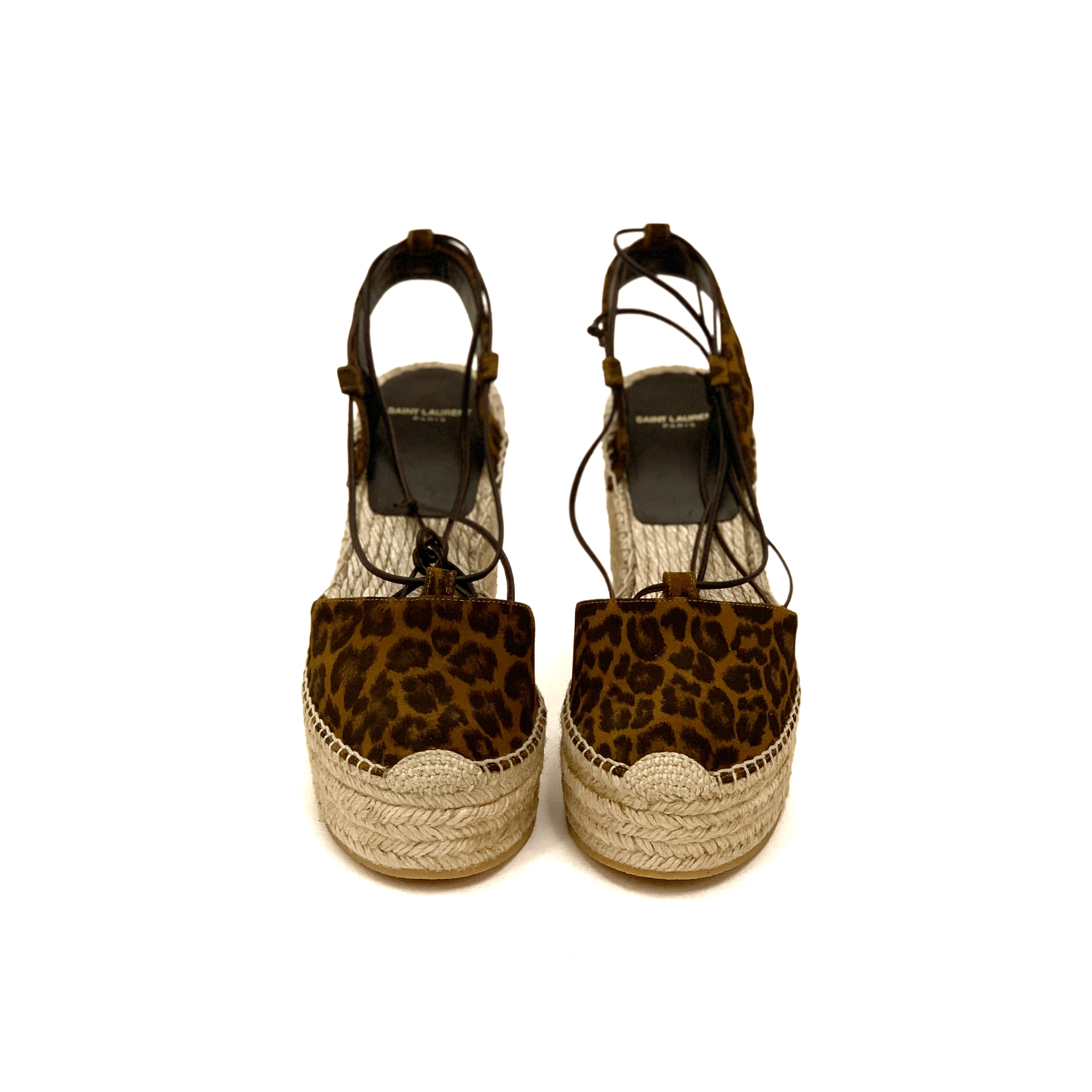 Saint Laurent leopard wedges SV5289