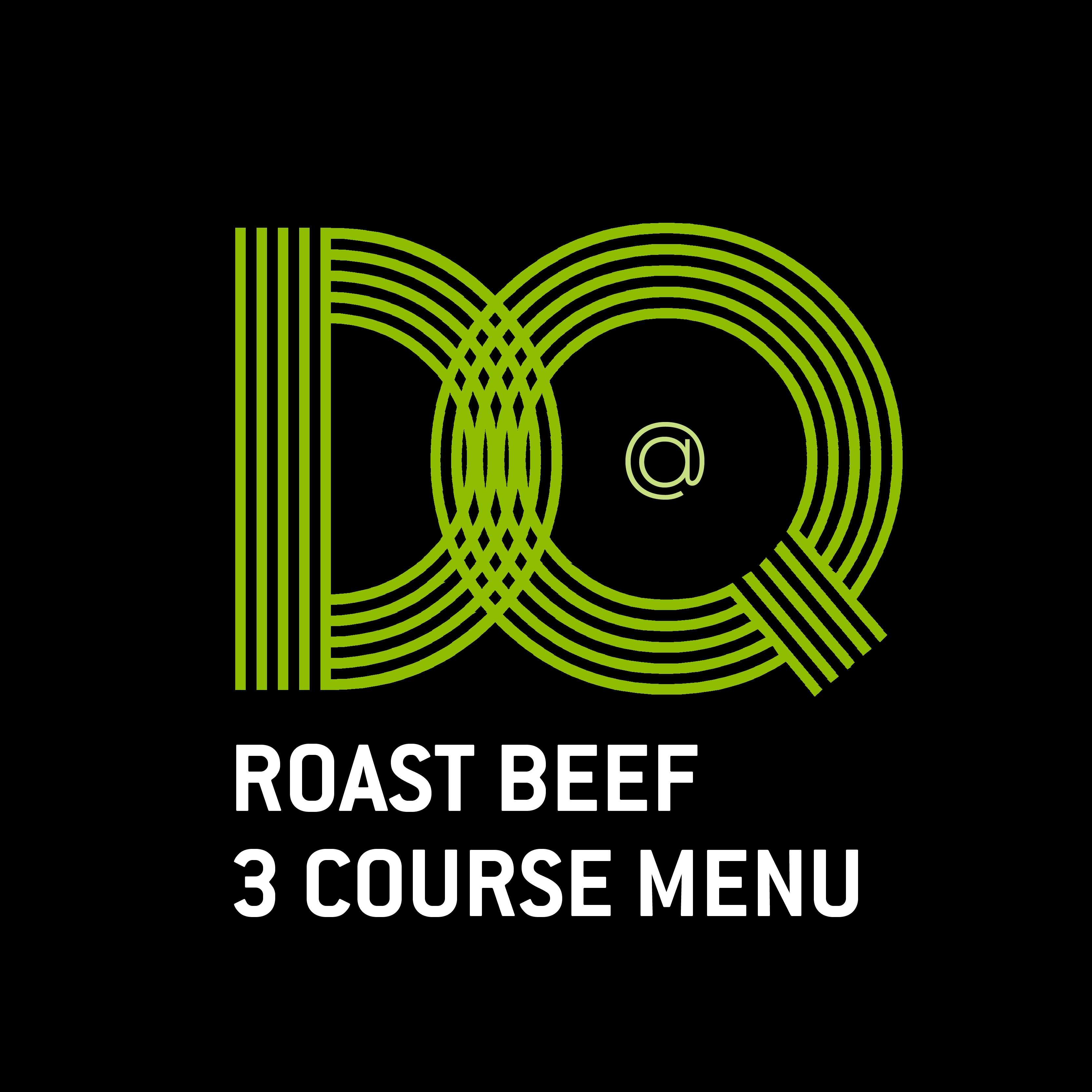 19. DQ - SUNDAY ROAST BEEF 3 COURSE MENU