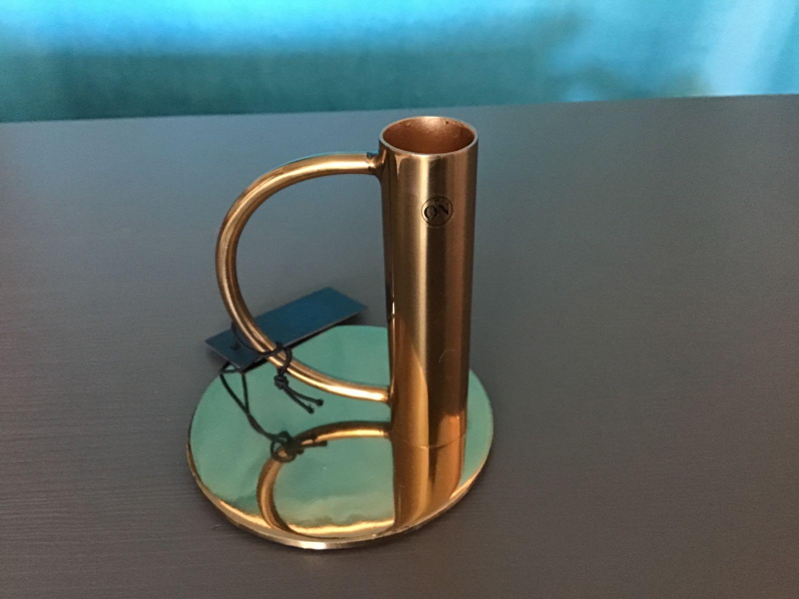 Ljusstake Candle Holger Delicate guldfärgad rostfritt stål