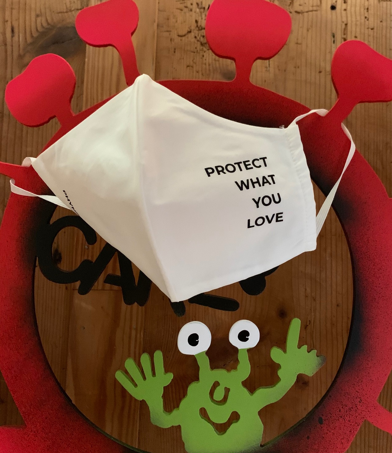 protect what you love Maske