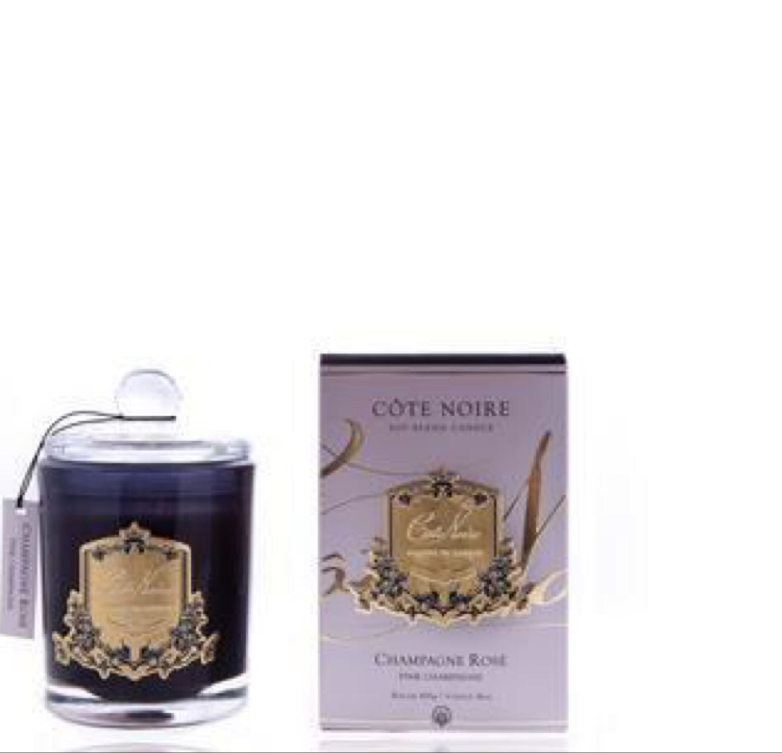Cote noire pink champagne small candle