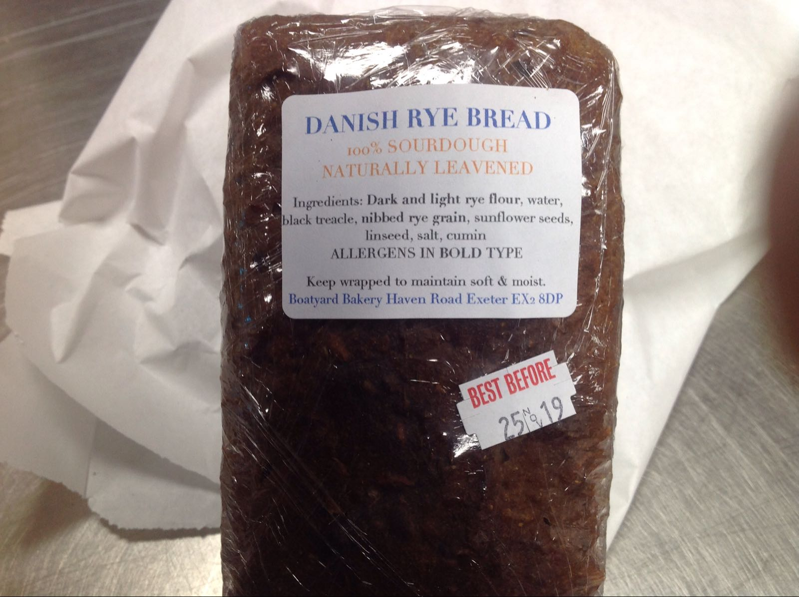 Danish Rye (Monday, Wednesday& Friday)