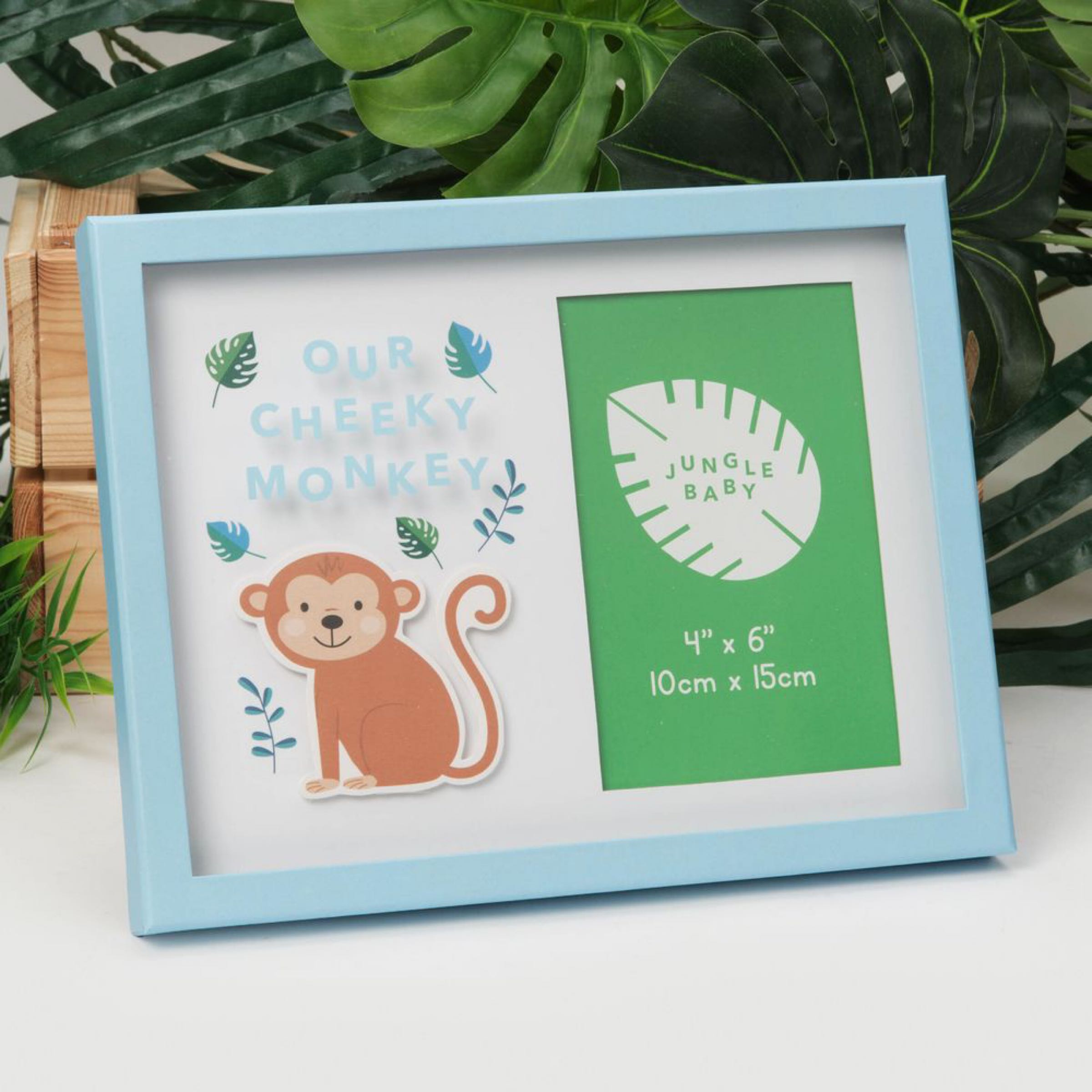 "Jungle Baby Paperwrap Frame 4""x6"" - Our Cheeky Monkey"