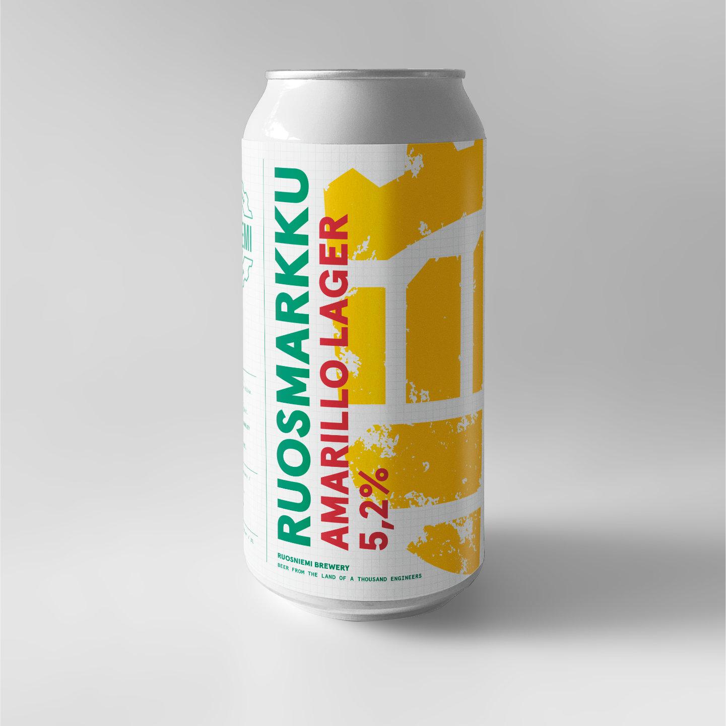 Ruosmarkku Amarillo Lager 0,5l 5,2%