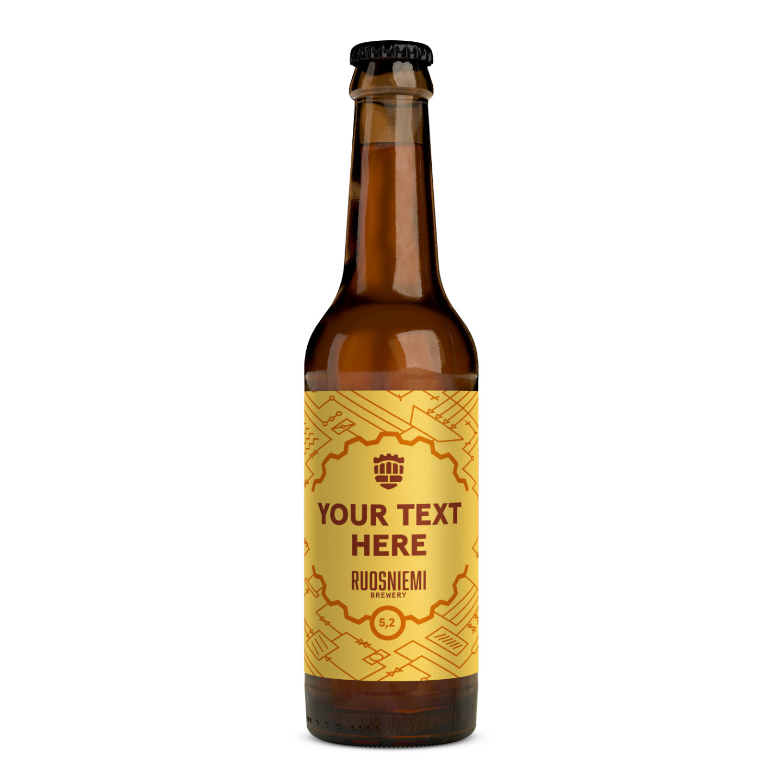 Personoitu olut (24 x 0,33 plo) 5,2 %