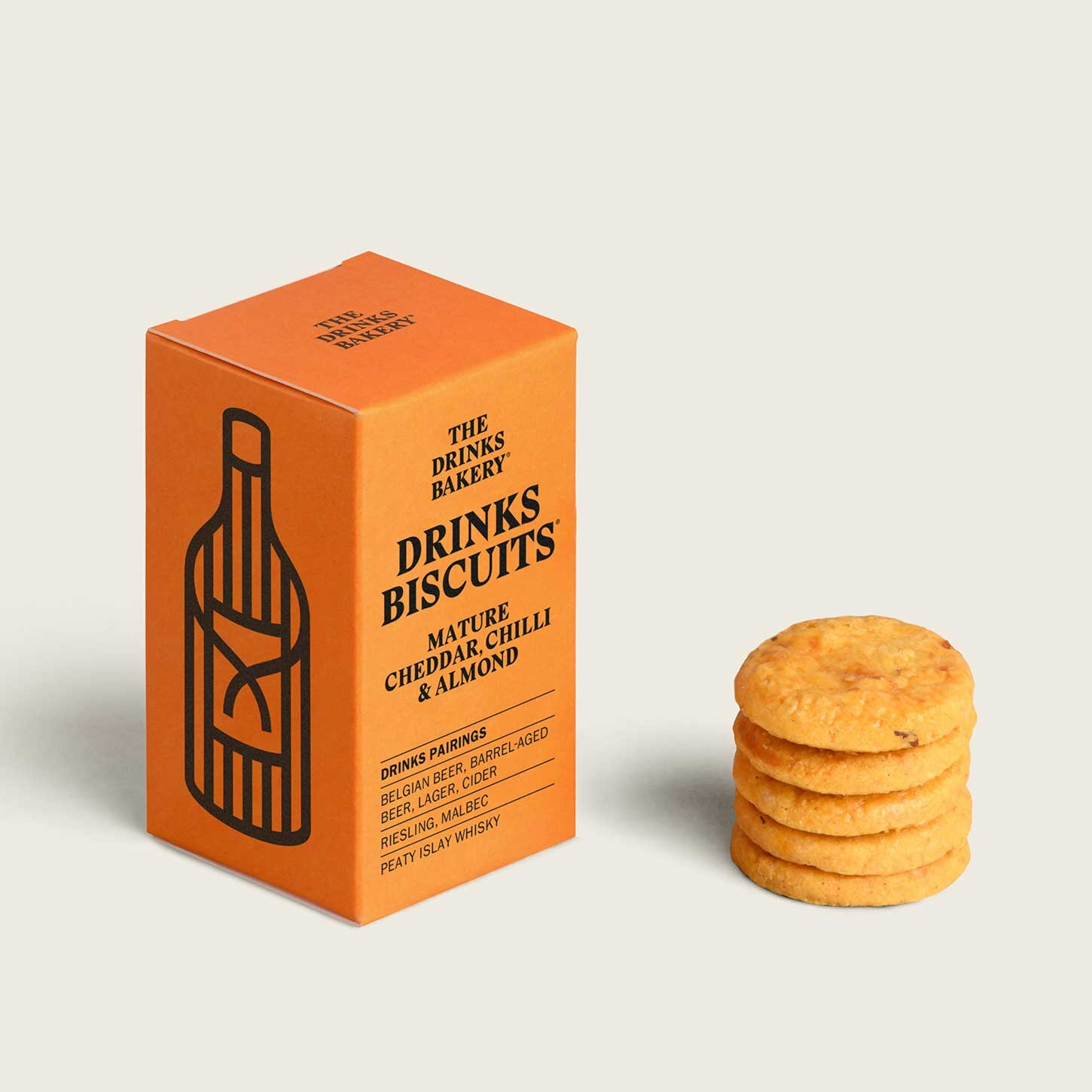 Drinks Bakery Drinks Biscuits - Mature Cheddar Chilli and Almond 36g