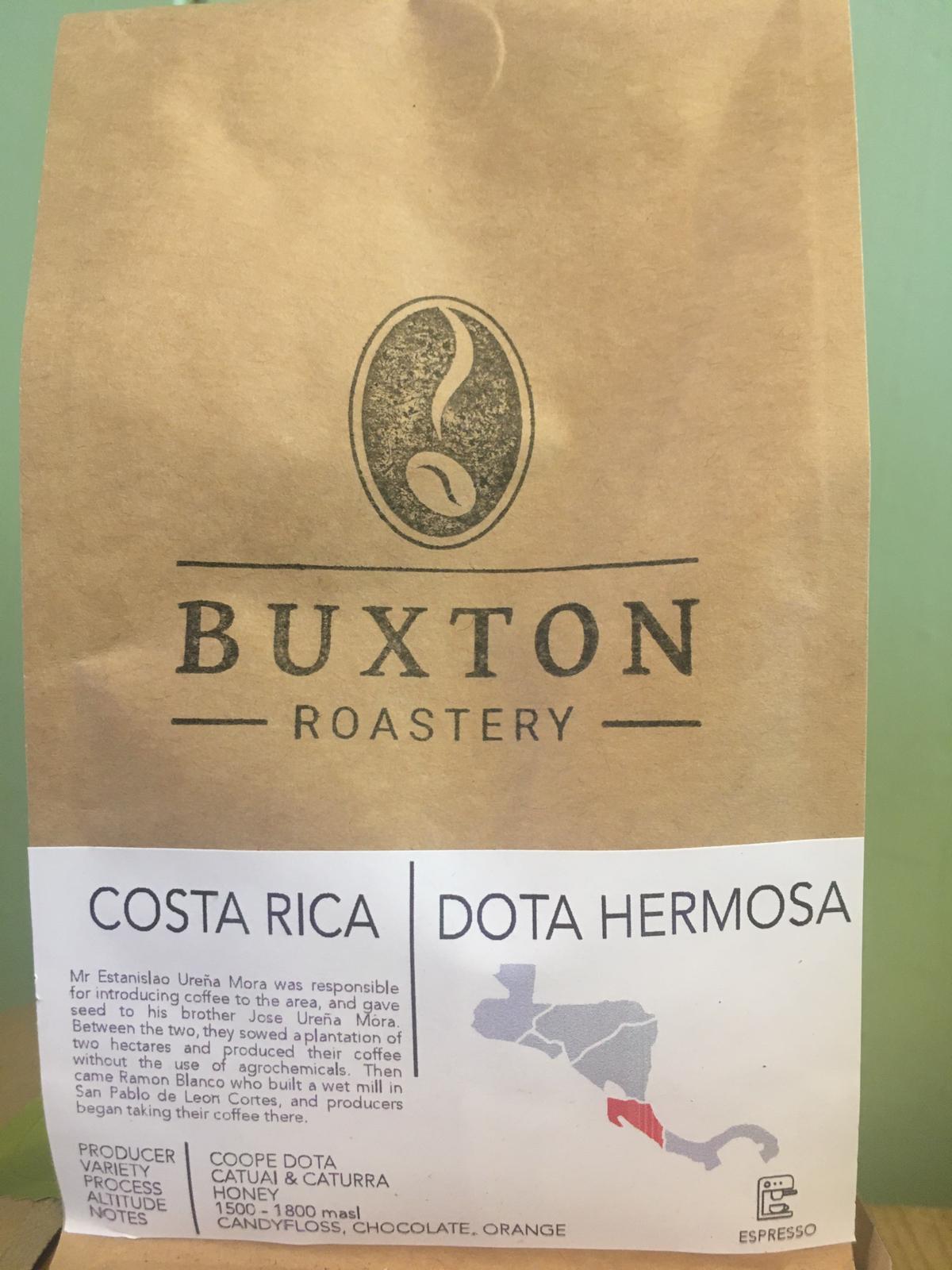 Buxton Roastery Coffee - Costa Rica Dota Hermosa 225g