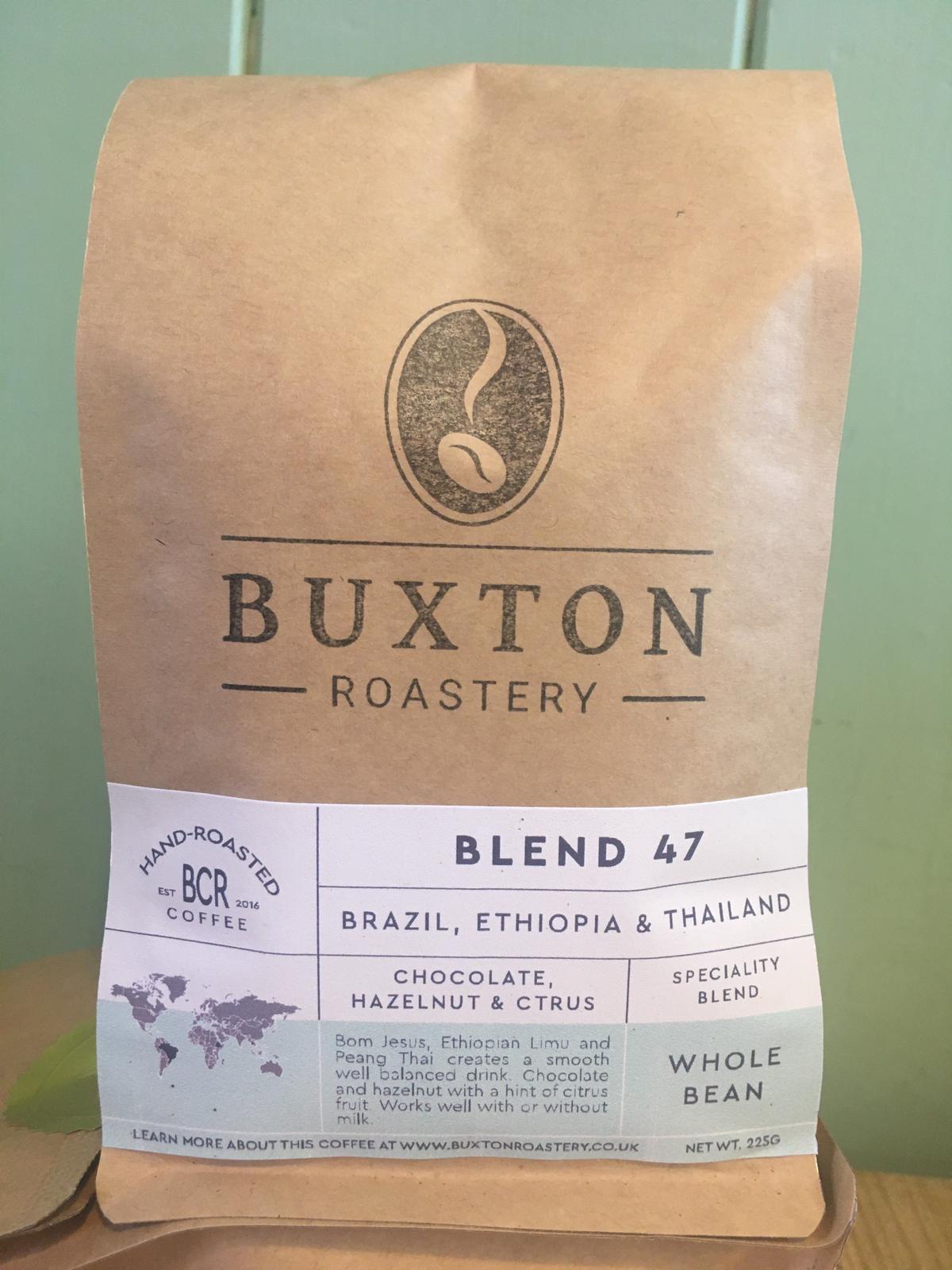 Buxton Roastery Coffee - Blend 47 (A Blend of Brazilian, Ethiopian and Thai Coffee) 225g