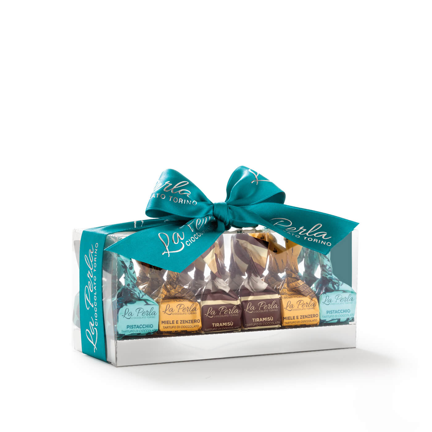 La Perla Tiramisu, Honey Ginger and Pistachio Truffles 260g