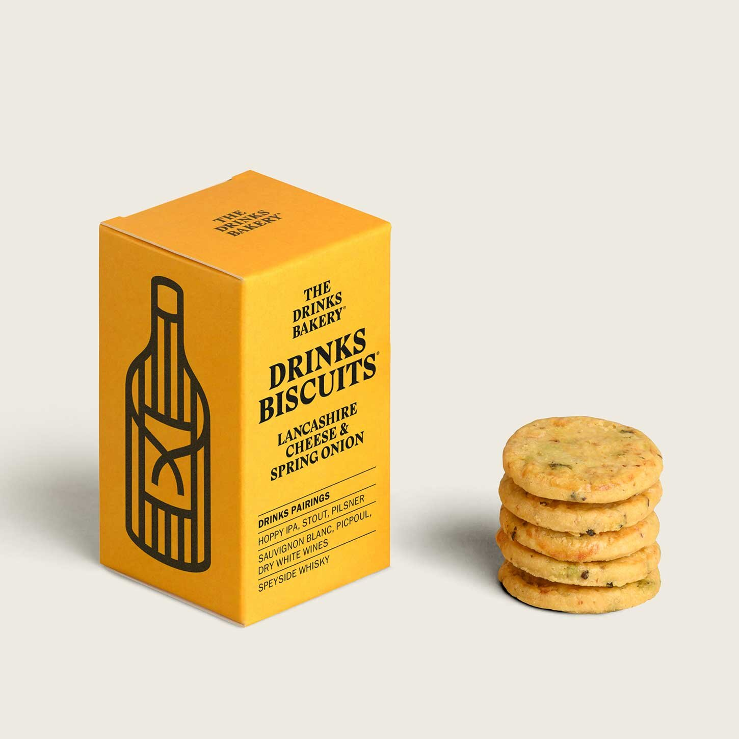 Drinks Bakery Drinks Biscuits - Lancashire Cheese and Spring Onion 36g
