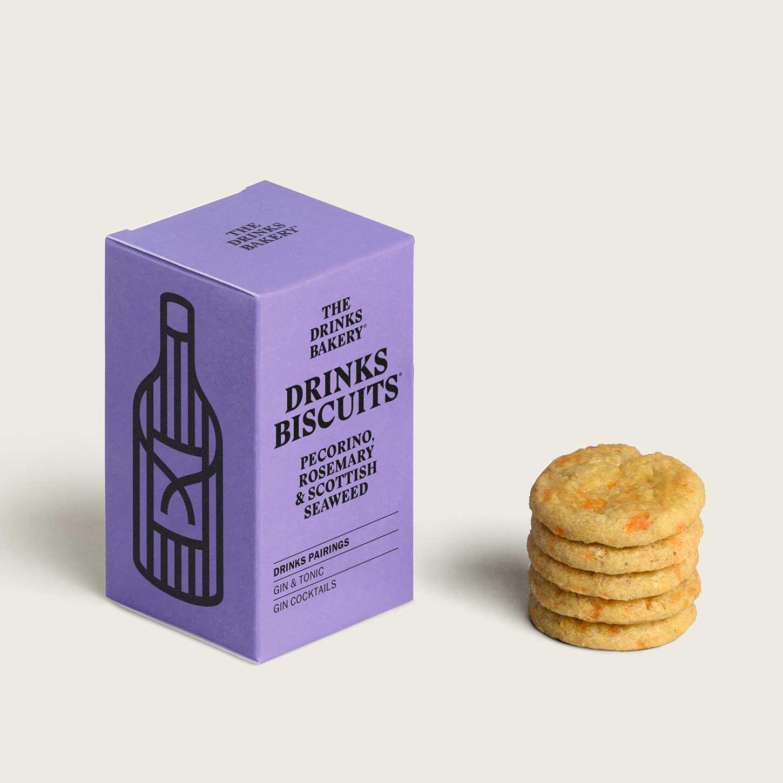 Drinks Bakery Drinks Biscuits - Pecorino Rosemary and Scottish Seaweed 36g