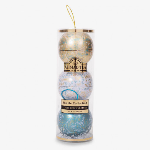 Ahmad Tea - Gift Pack of 3 Baubles 3 x 8 Teabags 60g