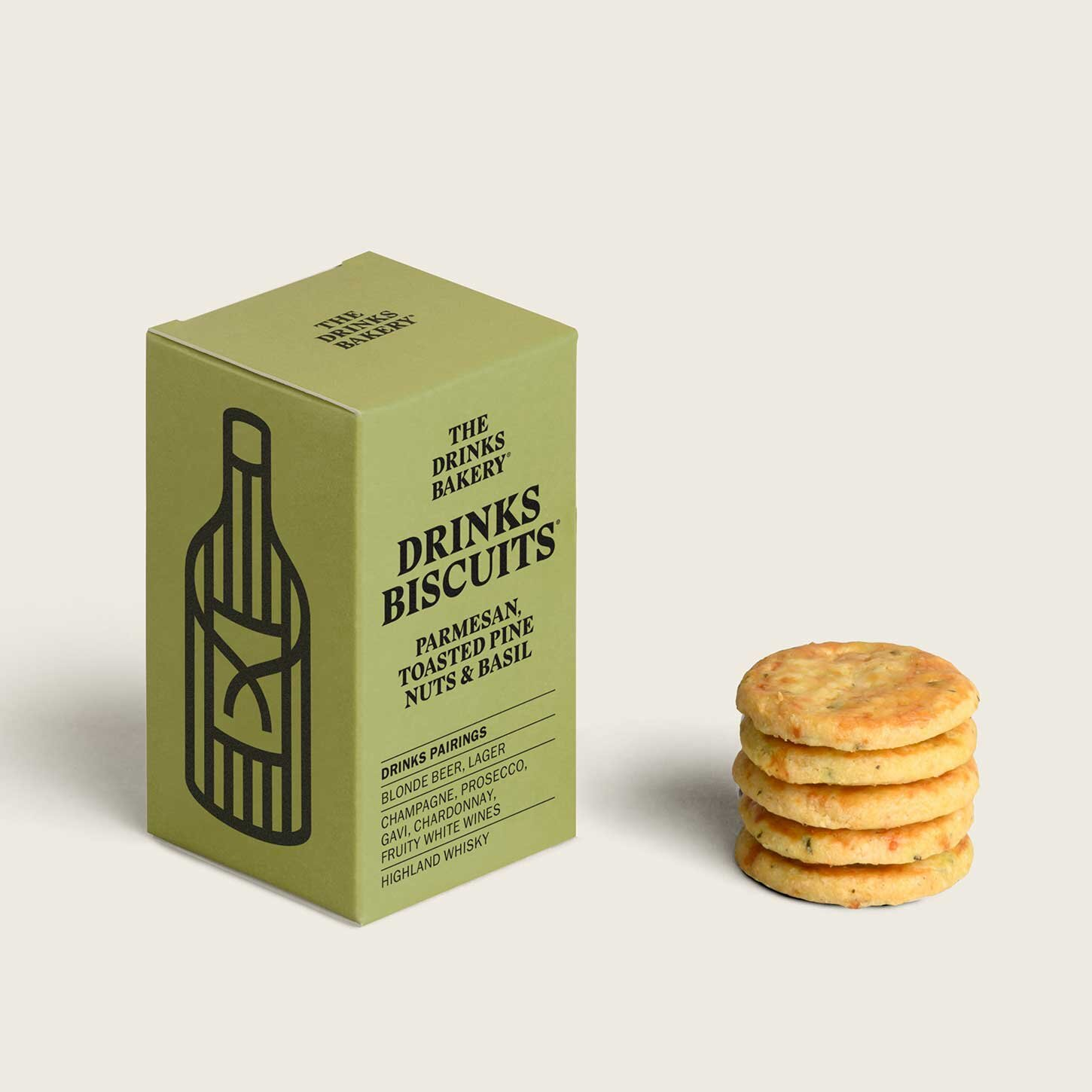 Drinks Bakery Drinks Biscuits- Parmesan Toasted Pine Nuts and Basil 36g