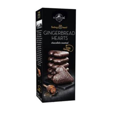 Kopernik Chocolate Covered Gingerbread Hearts 128g