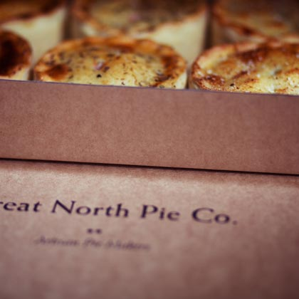 V Great North Pie Company - Vegetarian Pie (Individual)