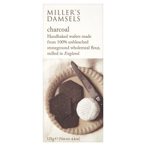 Miller's Damsel - Charcoal Crackers 125g