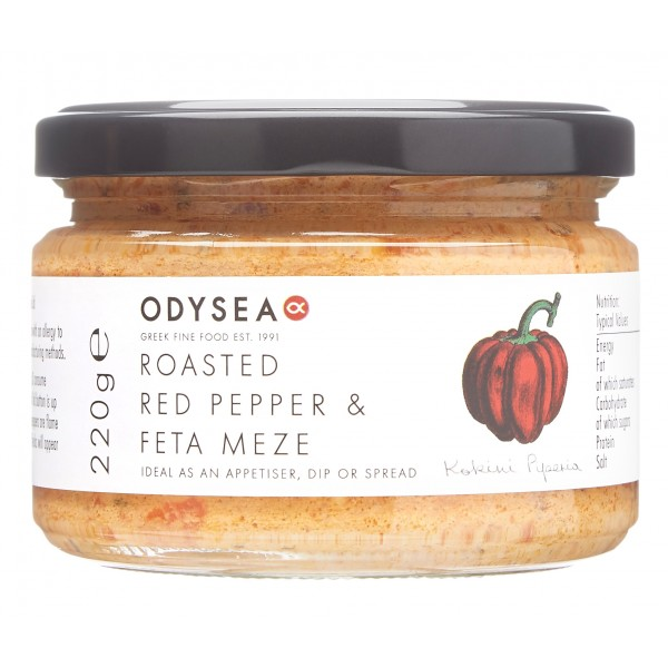 Odysea - Red Pepper & Feta Meze Dip 220g