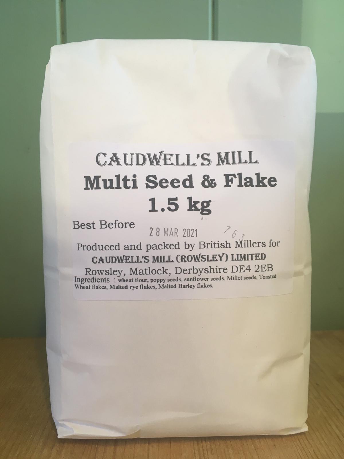 Caudwell's Mill Flour - Multi Seed & Flake Bread Flour 1.5kg