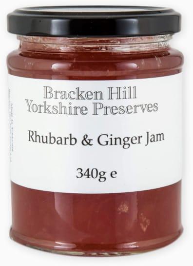 Bracken Hill Yorkshire Preserves - Rhubarb & Ginger Jam 340g
