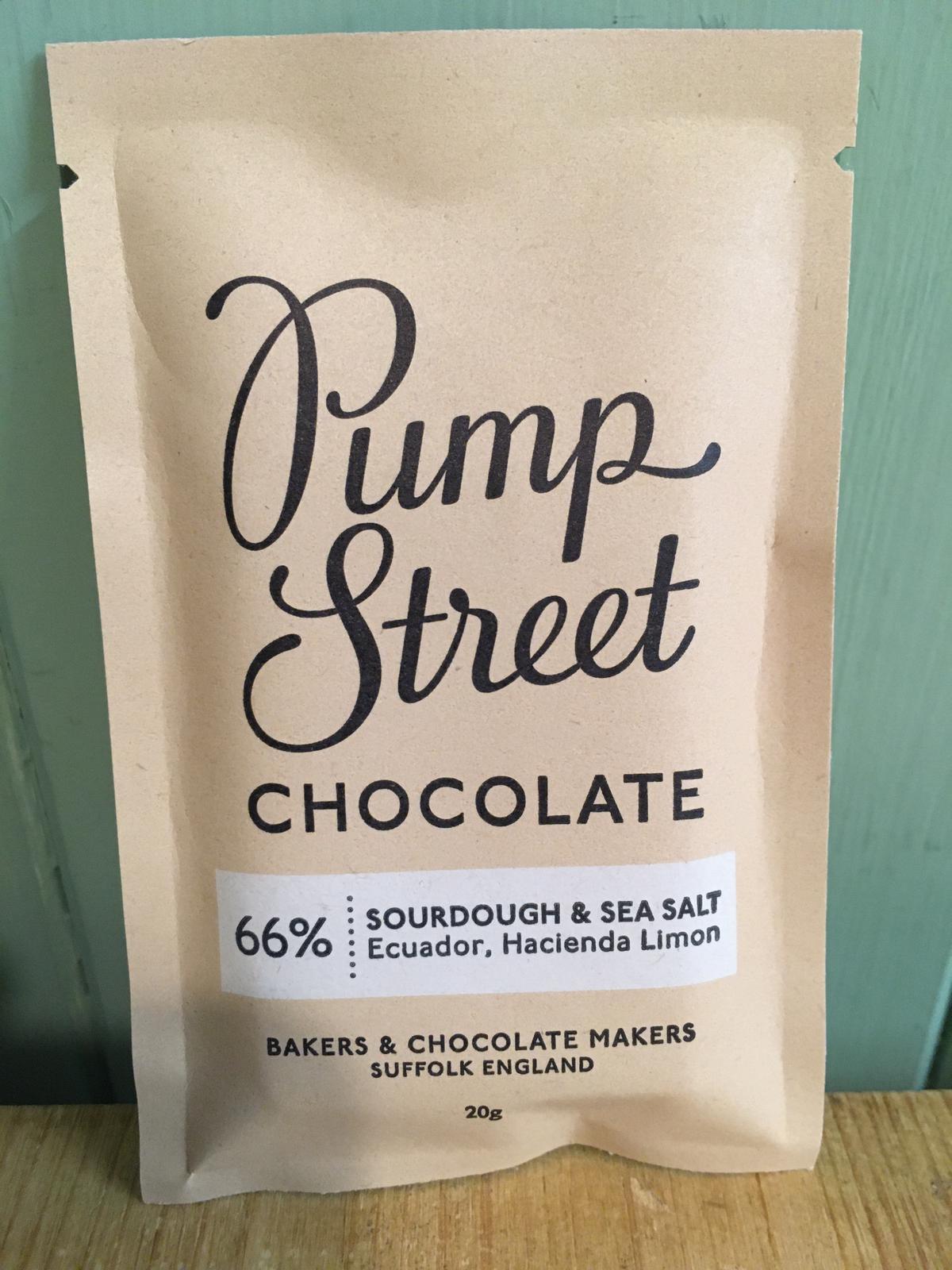 Pump Street Chocolate - Sourdough and Sea Salt 66% Dark Chocolate Bar 20g