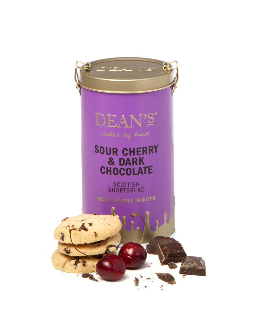 Dean's - Sour Cherry and Dark Chocolate Shortbread Rounds 150g