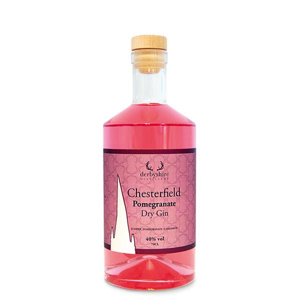 Derbyshire Distillery Chesterfield Gin - Pomegranate 20cl