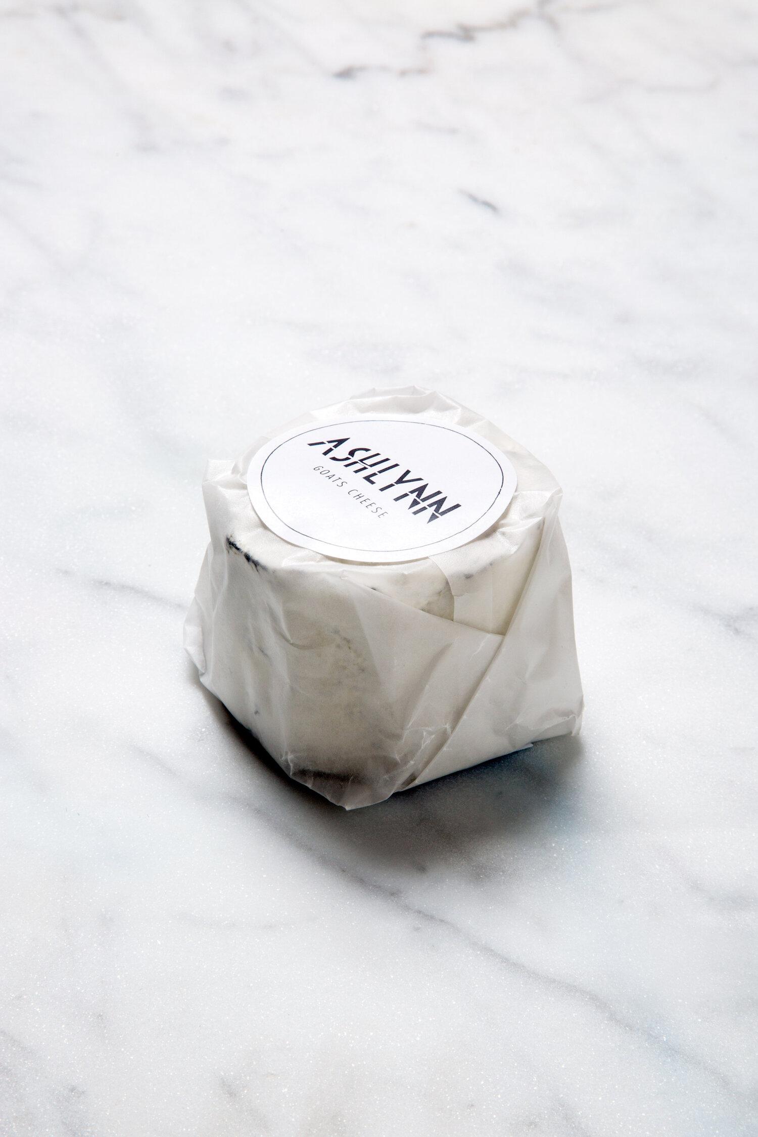 Ashlynn - A Soft Creamy Goat's Cheese, Coated in Ash 200g