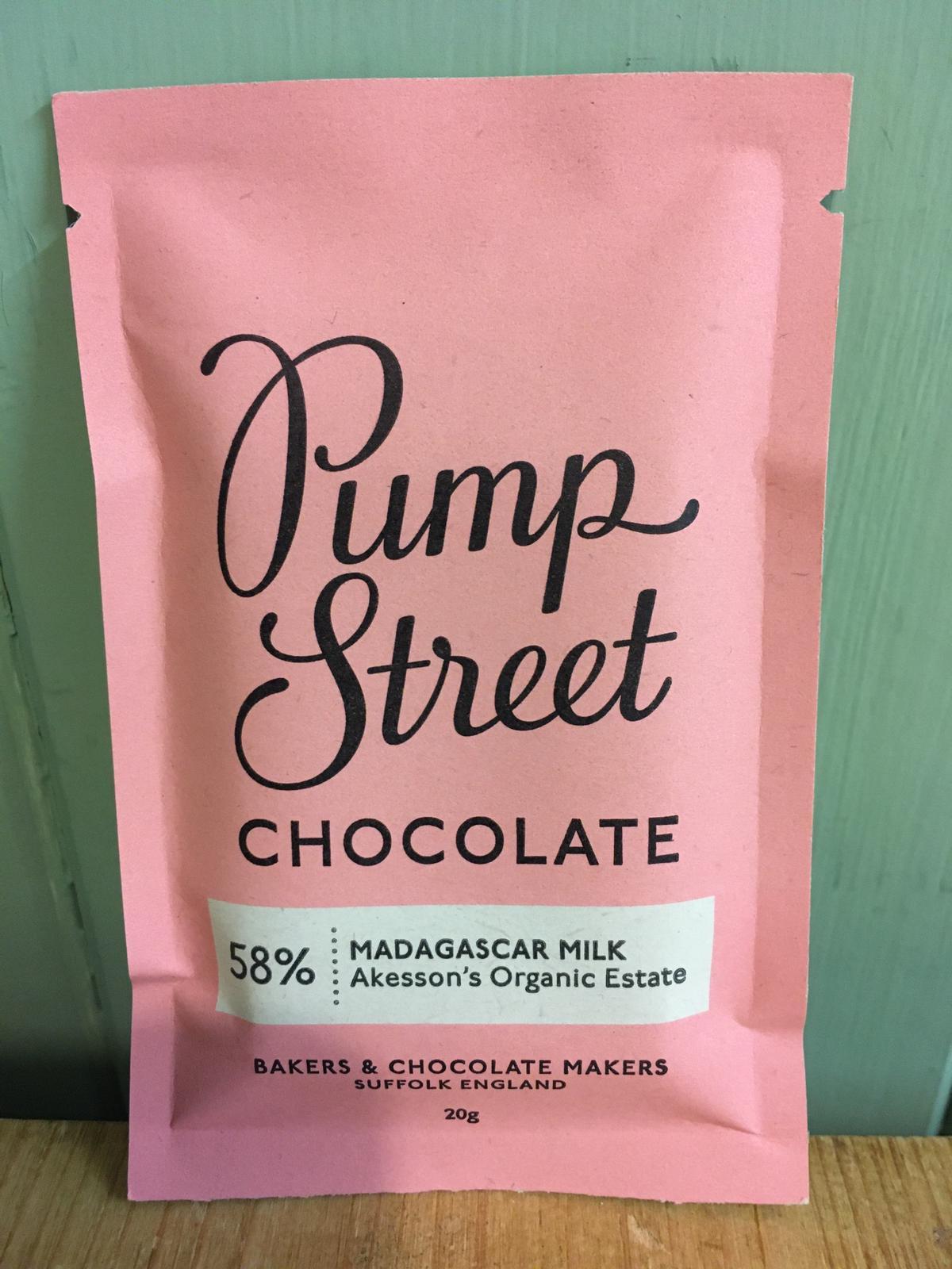 Pump Street Chocolate - Madagascar Milk Chocolate Bar 20g