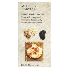 Miller's Harvest Three Seed Crackers 125g
