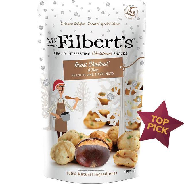 Mr Filbert's - Roast Chestnut and Chive Flavoured Peanuts and Hazelnuts 190g