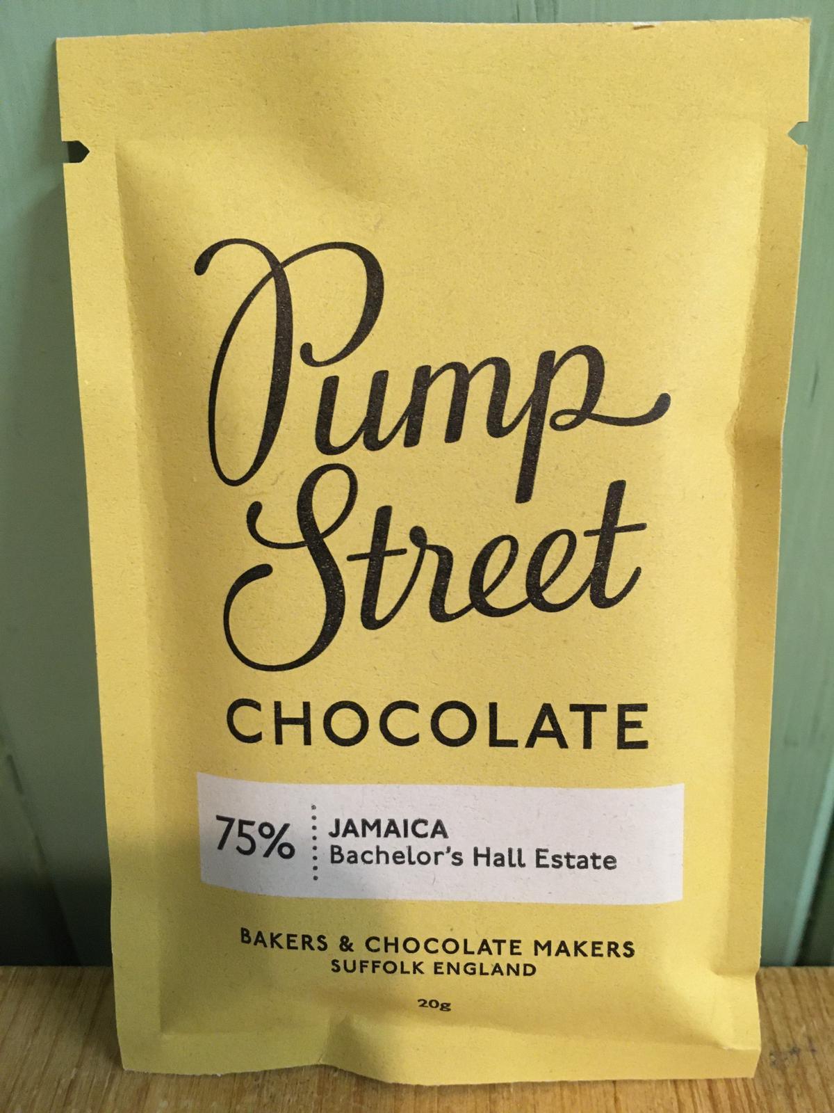 Pump Street Chocolate - Jamaica 75% Dark Chocolate Bar 20g