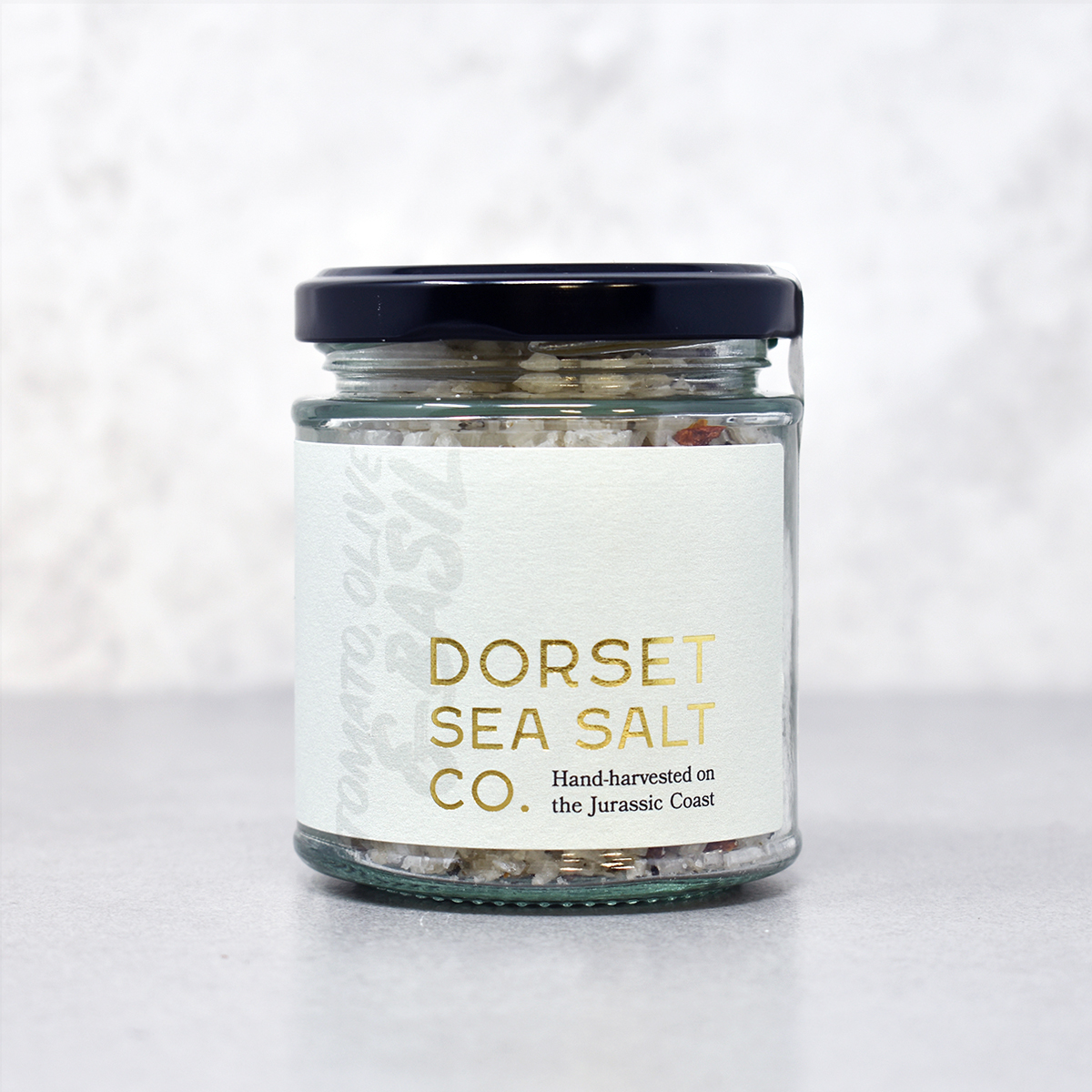 Dorset Sea Salt Co - Tomato Olive and Basil Infused Sea Salt Flakes 125g