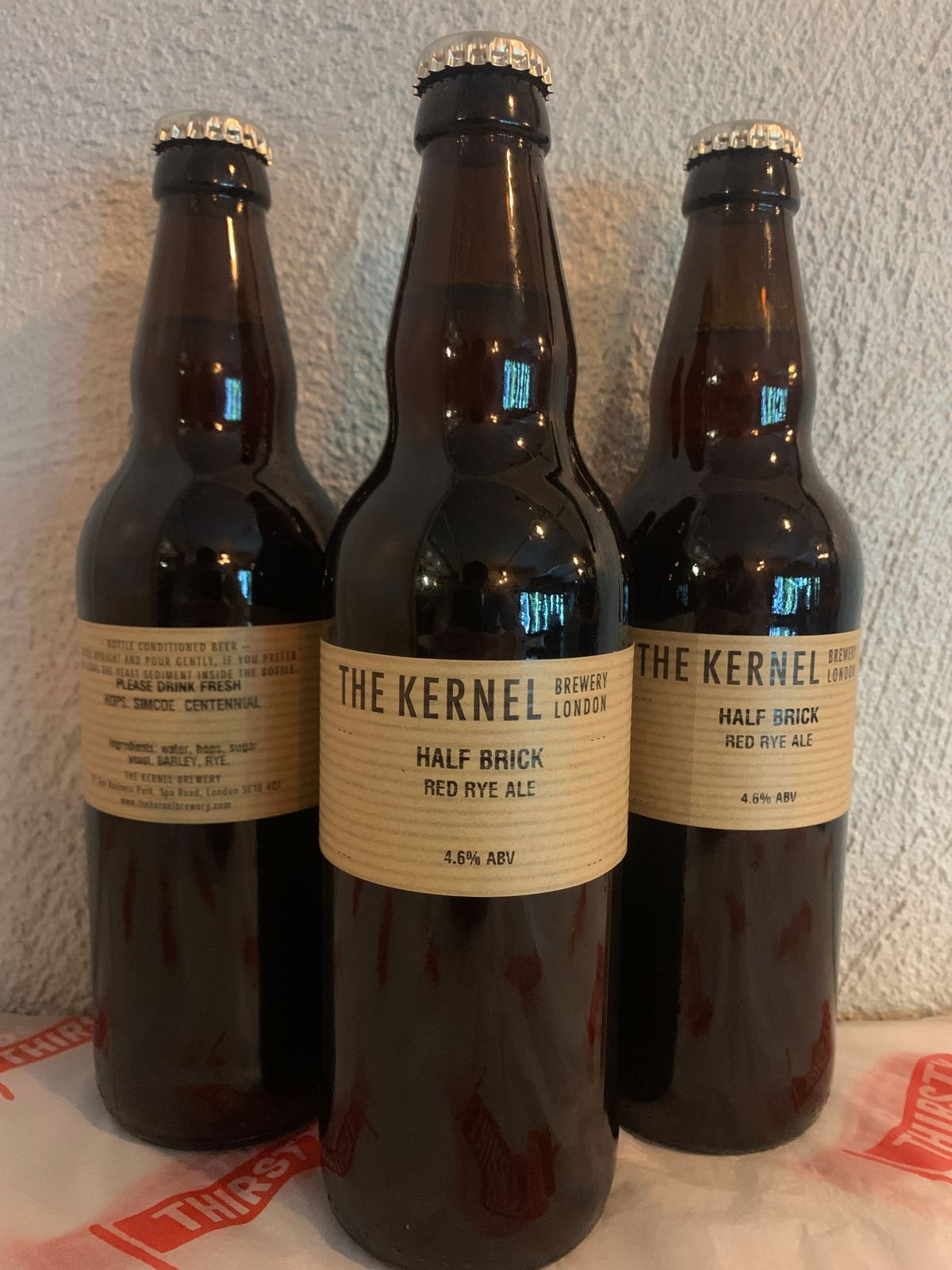 The Kernel | Half Brick | Red Rye Ale  4.6% 500ml