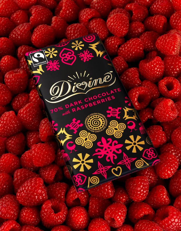 Divine Dark Raspberry Chocolate, 90g