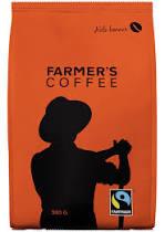 Farmers kaffe, hele bønner, 500g