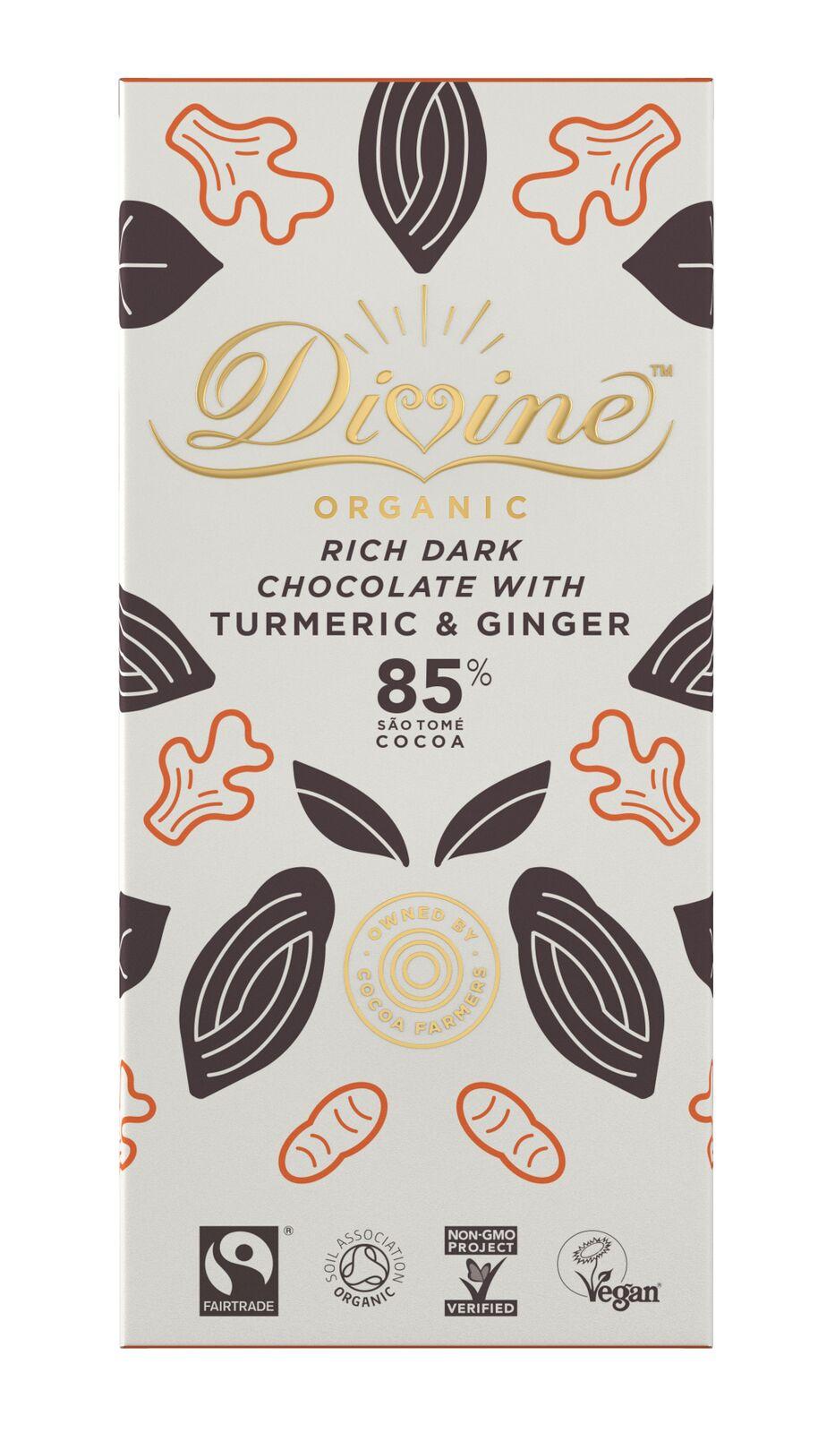 Organic, 85% with Turmeric & Ginger