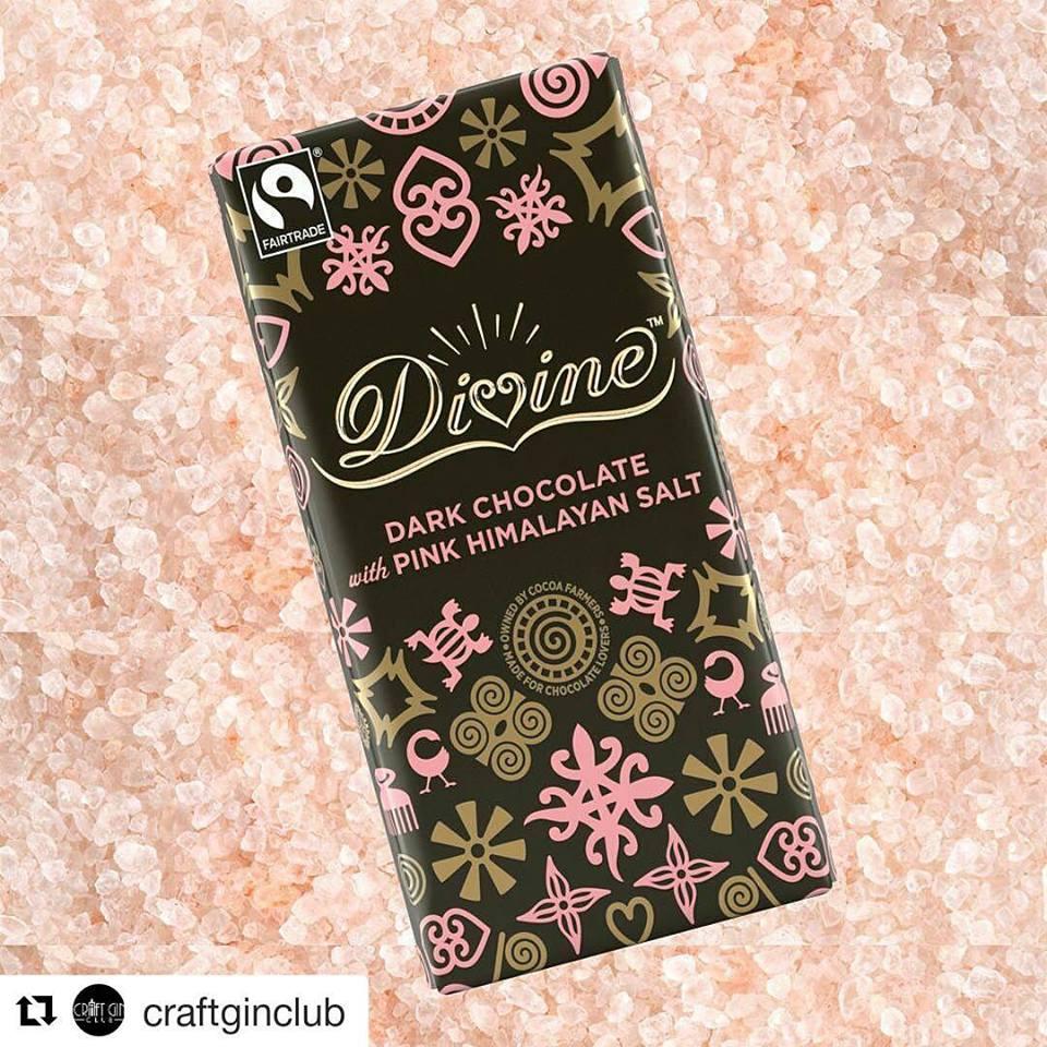 Divine Dark Chocolate with Pink Himalayan Salt, 90g