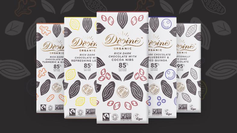 3 stk Organic Divine 80g