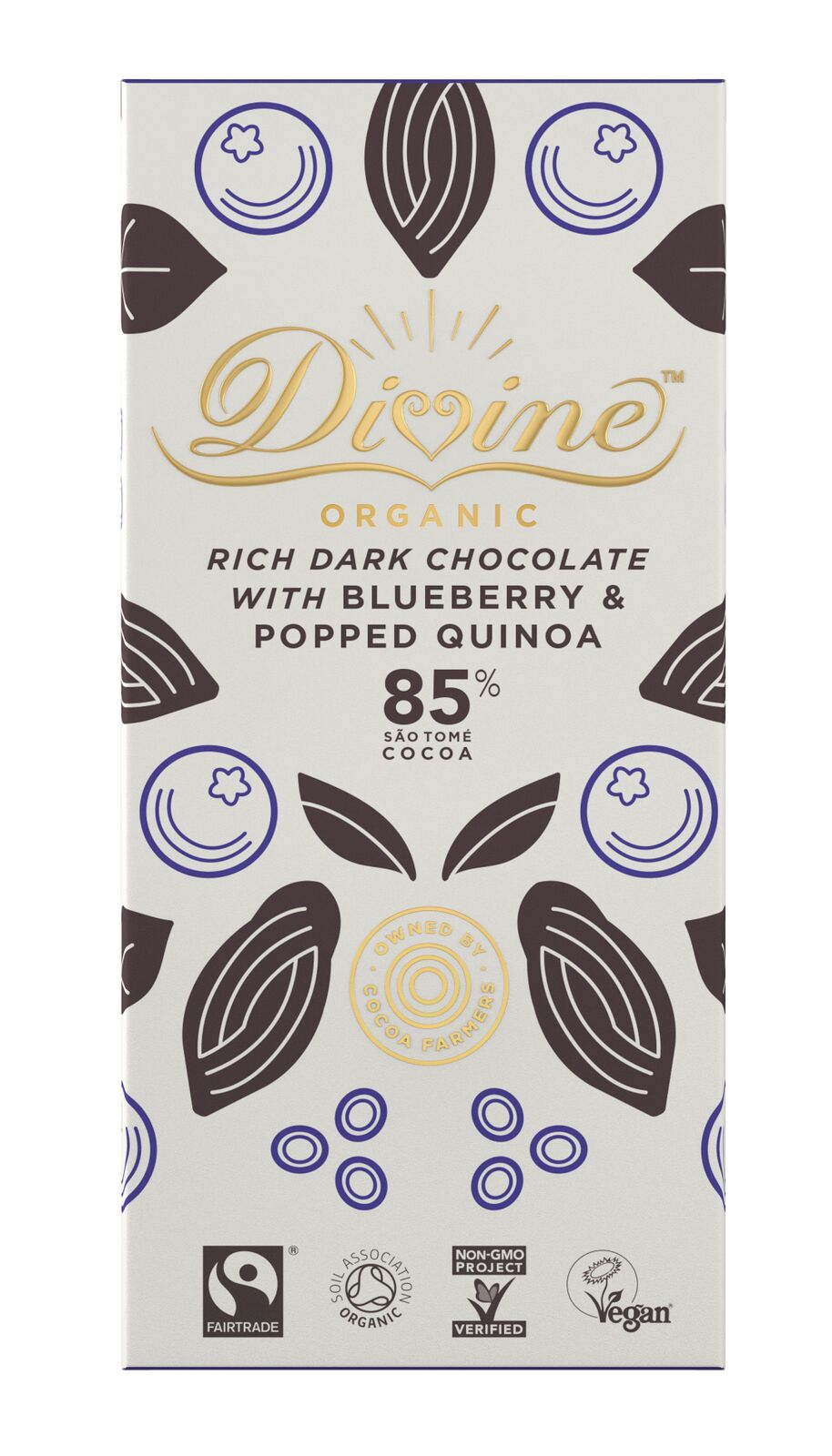 Organic, 85% with Quinoa & Bluberry, 80g