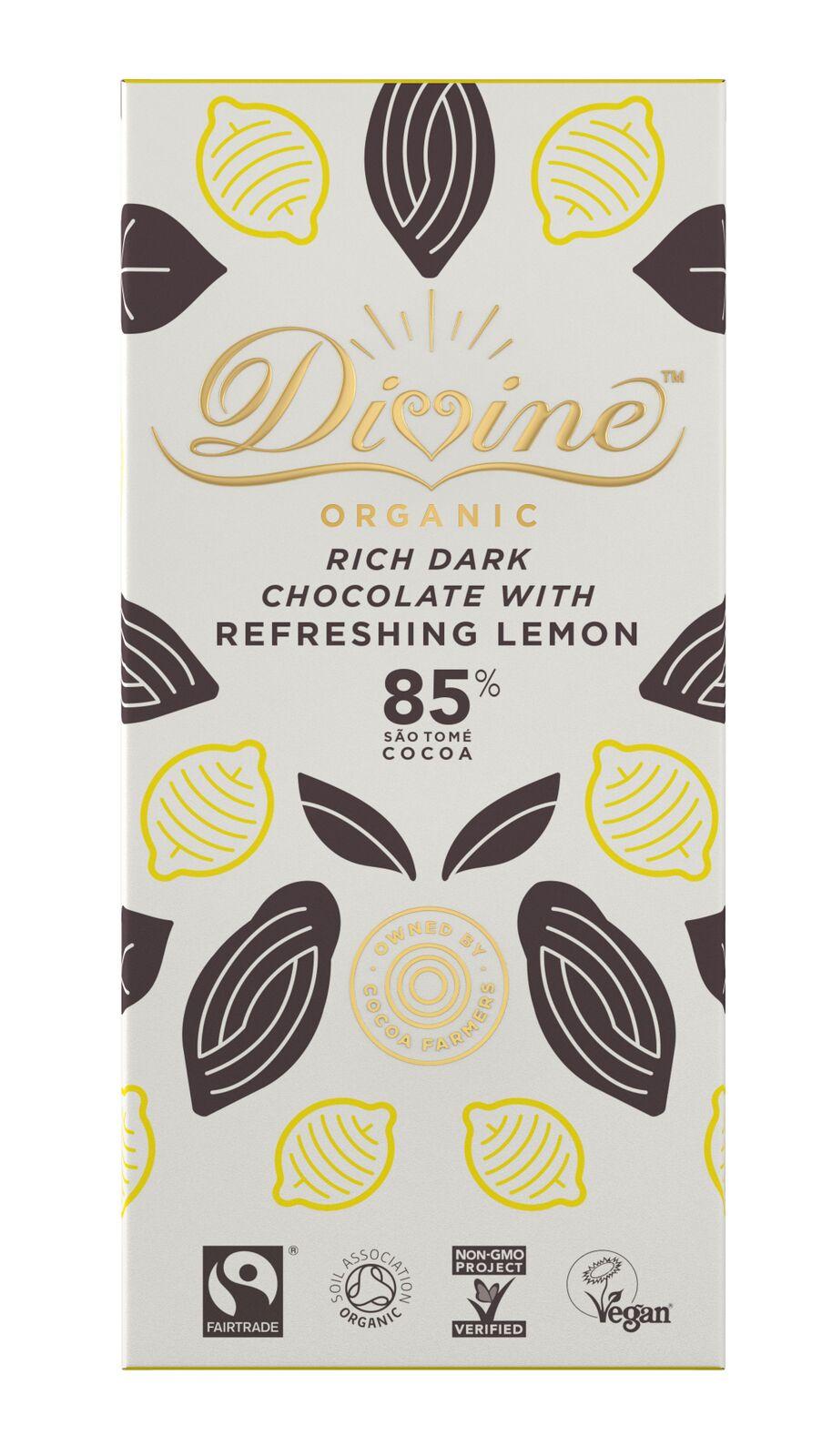 Organic, 85% with Lemon, 80g