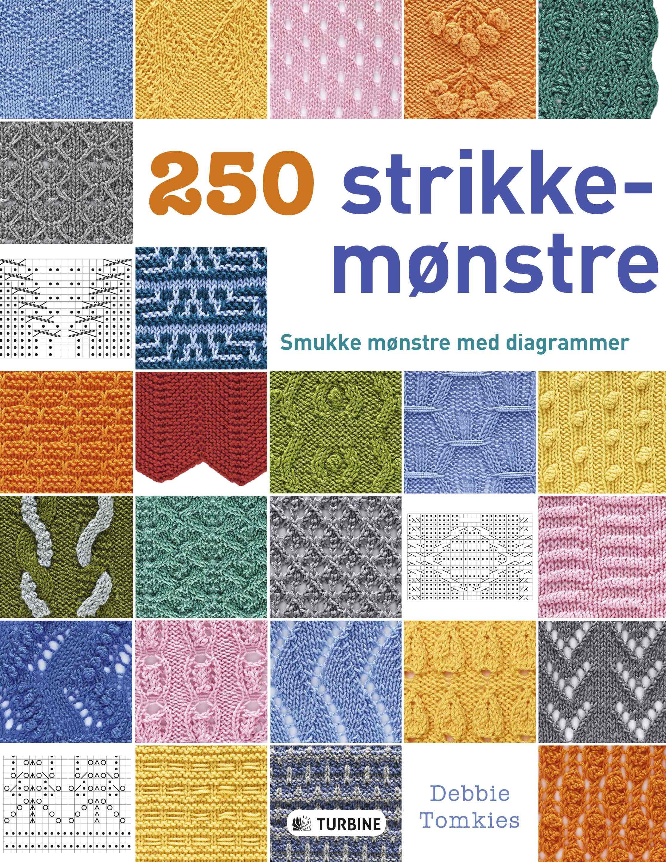 250 STRIKKEMØNSTRE af Debbie Tomkies - 9788740605204