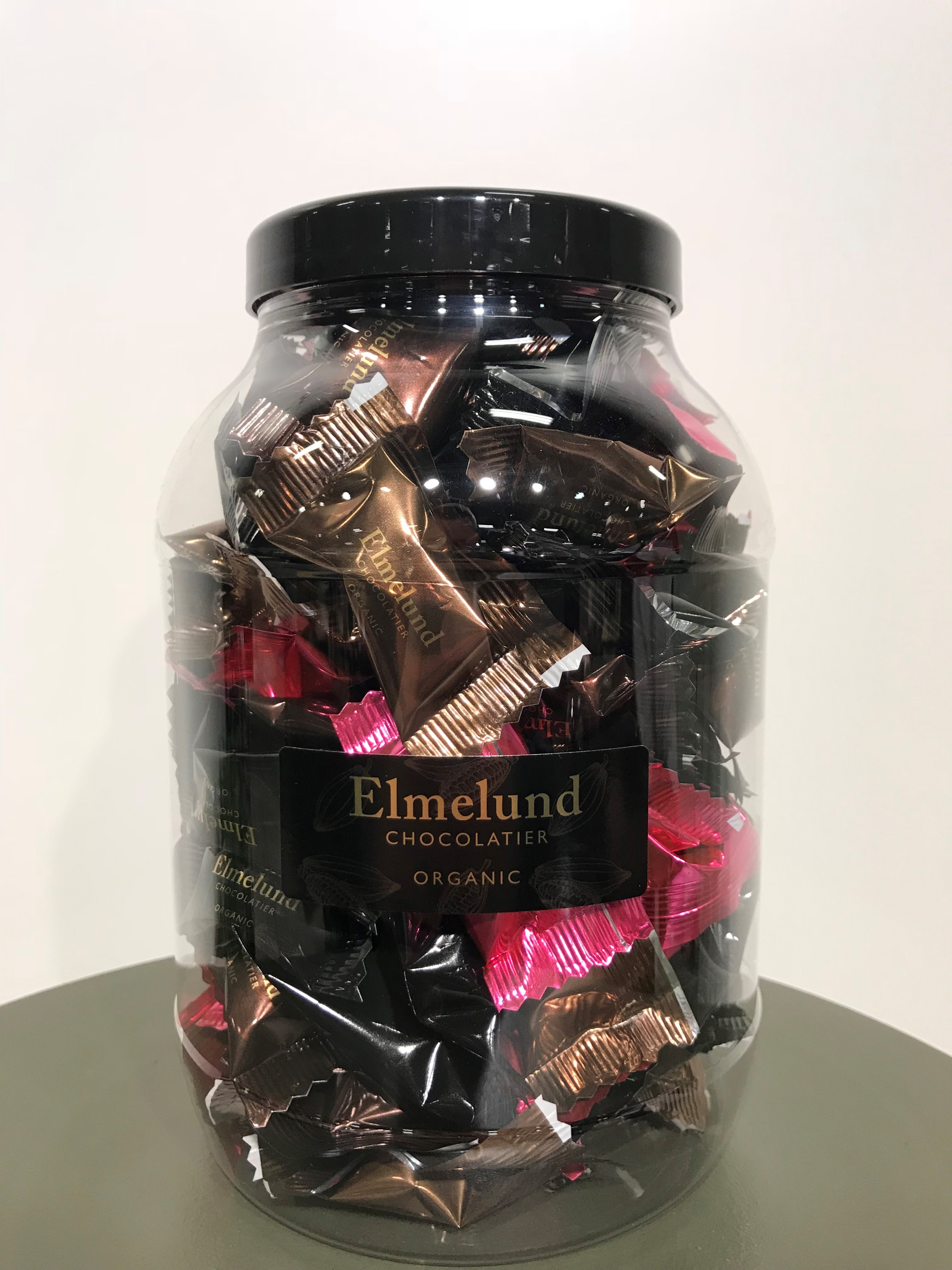 Økologisk Dragee chokolade, 1 stk., 5 g. Fra Elmelund